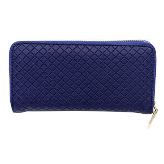 New Fashion Lady Leather Clutch Wallet Long Card Holder Case Purse(Blue)
