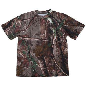 New Outdoor Hunting Camouflage T-shirt Men Breathable Army TacticalCombat T Shirt Military Dry Sport Camo Camp Tees-Tree camouflage -