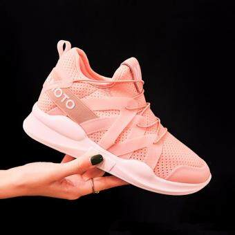 Ocean 2017 Ladies fashion Sports shoes Han edition leisure Heightenrunning shoes(Pink)