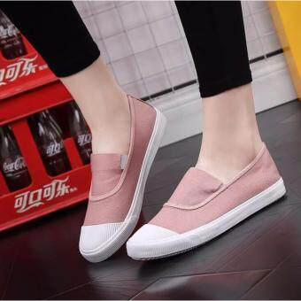 Ocean NEW Ladies fashion Flat shoes Han edition Canvas shoes(Pink)