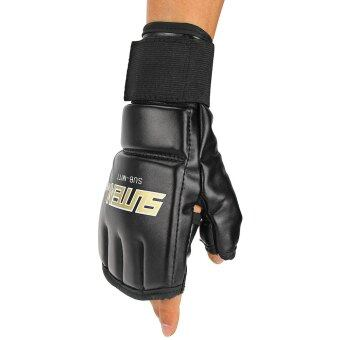 One Pair Gym Thai Sparring Training Boxing Punch Ultimate MittsFingerless Gloves