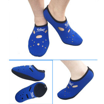Outdoor Surfing Sock Snorkeling Water Exercise Swimming Scuba Diving Beach Shoes Blue L