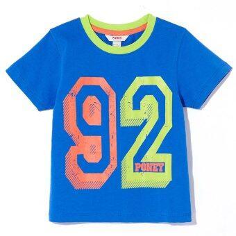 PONEY Boy Block Numbers 92 T-shirt (Blue)