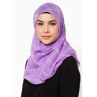 QASEH LONG SHAWL PURPLE TUDUNG HIJAB MUSLIMAH FASHION
