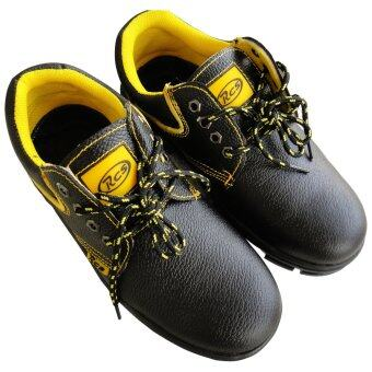 RCS Steel Safety Shoe, Cow Leather, Low Cut Boot (Black) - Static, Fire Retardant Safety Shoe