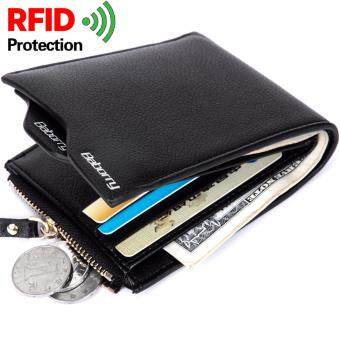 RFID Theft Protec Coin Bag zipper men wallets famous brand menswallet male money purses Wallets New Design RFID Men Wallet