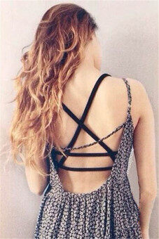 Sexy Women Padded Bra Tank Tops Caged Bra Vest Crop Top SummerBlack