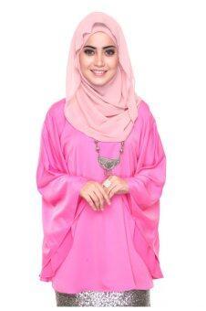 Silky Kaftan Top - Pink