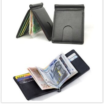 Solid Money clip wallet men with Credit Card Id Holder porta fogliofor male wallet clips Hot Sale