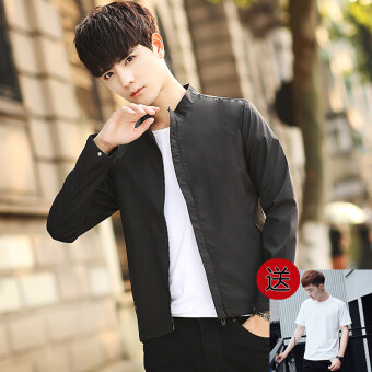 Spring and Autumn New style men's coat jacket (Black)