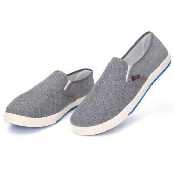 Teamtop Fashion Mens Canvas Driving Shoes Breathable Slip On Loafers Casual Cotton Shoes