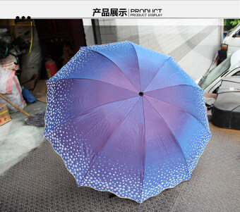 The benefits of bone to increase wind Ms. SUN umbrella rain orshine umbrella (3 #)