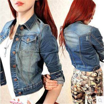 The New Water Jacket Long Thin White Jeans Denim Jeans Jacket
