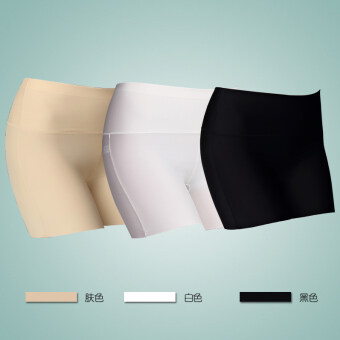 Three points viscose fibre anti-female summer shorts safety shorts (Color + black + white) (Color + black + white)