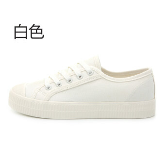 Ulzzang versatile female student flat shoes universal (HQ17080 white)