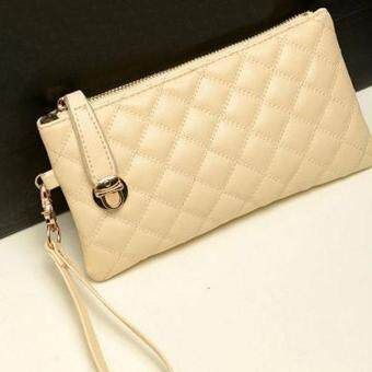 Vintage Women Clutch PU Leather Handbag White