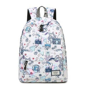 Winner/winners backpack female korean version of the influx of 2017 new personality joker printing schoolbag college wind (Meters gray (vintage memory))