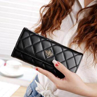 Women Lady Leather Clutch Wallet Long PU Card Holder Purse Handbag BA004-Black
