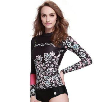 Women Rashguard Surfing Shirts Long Sleeve Swimwear SnorkelingScuba Diving Wetsuit Tops Bathing Shirts Wear - Digital28