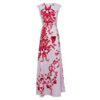 Women Summer Floral Print Long Maxi Boho Cocktail Evening PartyProm Gown Dress-