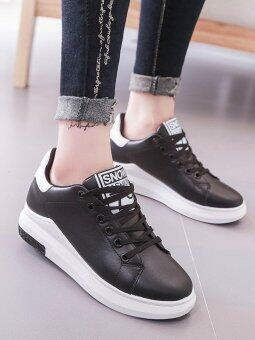 Women's Sport Shoes Simple Design Casual Sneakers (Black)