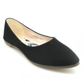 XES Women LC1602-8 Plain Flats (Black)