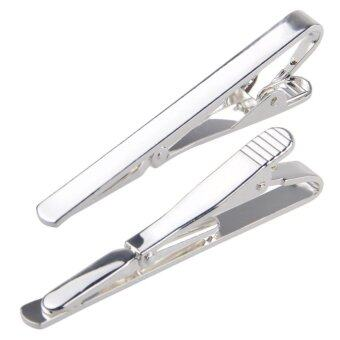 Yika Fashion Men Metal Simple Necktie Tie Bar Clasp Clip Clamp Pin
