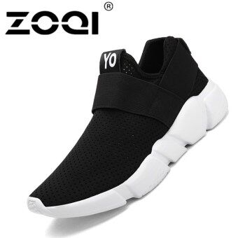 ZOQI Unisex Running Shoes Light Breathable Sneaker SportShoes(black)