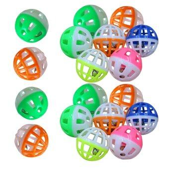 18pcs Pet Cat Play Balls Toy with Jingle Bell
