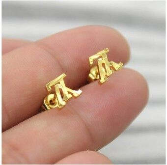24k fashion gold-plated temperament alluvial gold earrings
