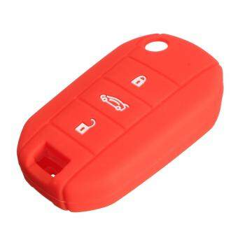 3 BUTTON SILICONE KEY COVER CASE FIT FOR PEUGEOT 3008 5008 301 208 2008 308 408