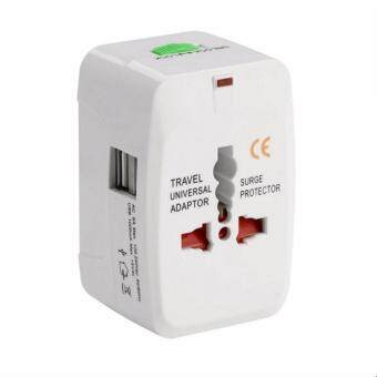 5V/1A 2 USB Port Universal International All in One Travel Adapter Charger