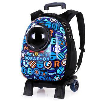 wholesale dealer a078a f62c7 Astronaut Capsule Pet Dog Cat Carrier Travel Breathable TrolleyBackpack Bag