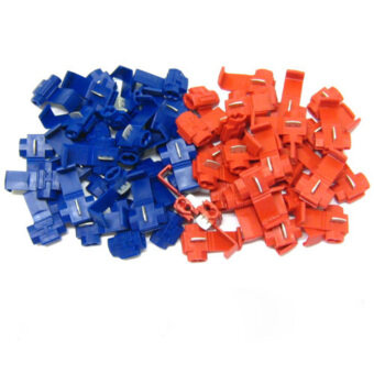 Aukey 50Pcs Snap On Connector Wire Splicer Terminal Lock
