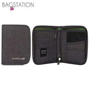 BAGSTATIONZ Travel Zip-Up Passport Pouch (Grey)