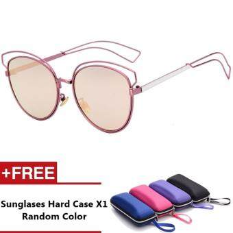Claritin Brand Unisex Retro Aluminum Sunglasses Polarized Lens Vintage Eyewear Accessories Sun Glasses For Men/Women (Pink)
