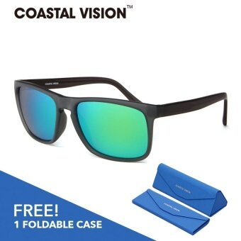 COASTAL VISION Polarized Unisex Black sunglasses Rectangle anti UVA/B lenses CVS5824