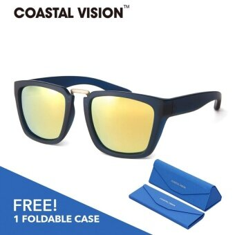 COASTAL VISION Polarized Unisex Black sunglasses Rectangle anti UVA/B lenses CVS5825