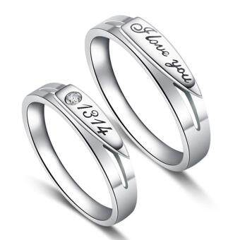 Couple Rings Jewellry 925 Silver Adjustable Lovers Ring JewelryE001