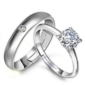 Couple Rings Jewellry 925 Silver Adjustable Lovers Ring JewelryE019