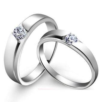 Couple Rings Jewellry 925 Silver Adjustable Lovers Ring JewelryE030