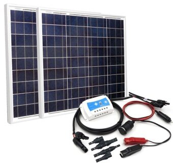 DIY 100W Solar Panel Power Charging Kit