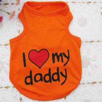 Dog Vest I love my father orange XL code
