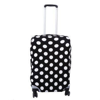 Fashion Elastic Dust-proof Travel Suitcase Protective Cover LuggageProtector Cases (Black White Dots M22-24)