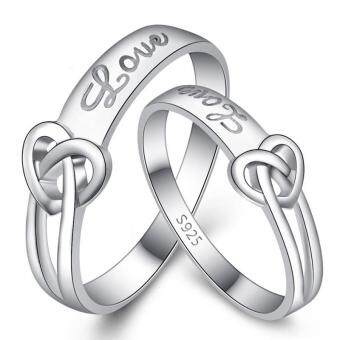 Fashion Lovers Rings Silver Adjustable Couple Ring Jewelry E010