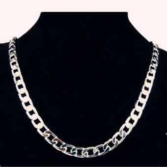 FASHION Men Jewelry 925 Silver Chain Necklace for Men 8MM 24 Inch