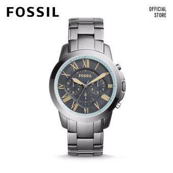 FOSSIL GRANT CHRONO GREY STAINLESS STEEL WATCH