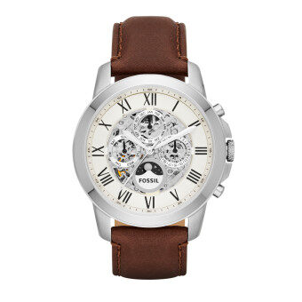 Fossil Men Grant Automatic Brown Leather Strap Watch ME3027