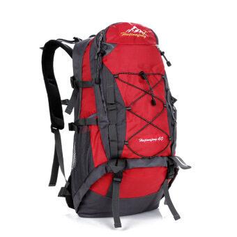 HuWaiJianFeng 40L waterproof Outdoor Hiking camping Backpack-Red ...