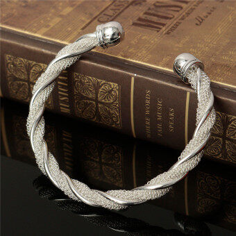 Jewelry Fashion Twist Solid 925 Silver Men/women Bangle BraceletChristmas Gift